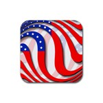 USA Rubber Square Coaster (4 pack)