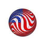 USA Rubber Round Coaster (4 pack)