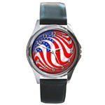 USA Round Metal Watch