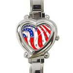 USA Heart Italian Charm Watch