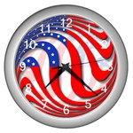 USA Wall Clock (Silver)