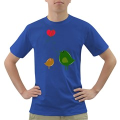 Love Birds Colored Mens'' T Shirt by YinYang