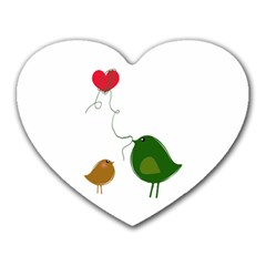 Love Birds Mouse Pad (heart) by LoveBirds