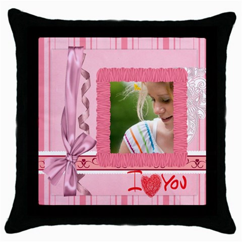Mothers Day By Joely   Throw Pillow Case (black)   6h5ihkkc7fhc   Www Artscow Com Front