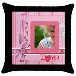 mothers day - Throw Pillow Case (Black)