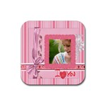 mothers day - Rubber Square Coaster (4 pack)