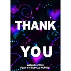 Thank You Wedding Card By Bec   Thank You 3d Greeting Card (7x5)   Orhht7991nzp   Www Artscow Com Inside