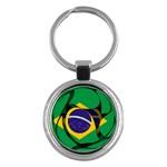 Brazil Key Chain (Round)