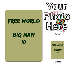Cds   Free World By Agentbalzac   Multi Purpose Cards (rectangle)   826uvfjg2tu2   Www Artscow Com Front 18