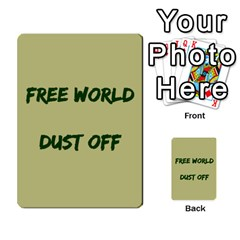 Cds   Free World By Agentbalzac   Multi Purpose Cards (rectangle)   826uvfjg2tu2   Www Artscow Com Front 44