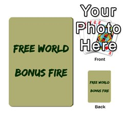 Cds   Free World By Agentbalzac   Multi Purpose Cards (rectangle)   826uvfjg2tu2   Www Artscow Com Front 45