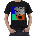 my house - Men s T-Shirt (Black)
