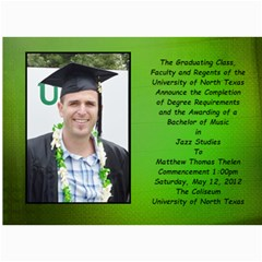 Matt Graduation By Lack Julie   5  X 7  Photo Cards   R74o6rqqw4oi   Www Artscow Com 7 x5 Photo Card - 45