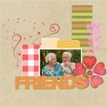 friends - ScrapBook Page 8  x 8