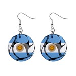 Argentina 1  Button Earrings