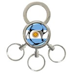 Argentina 3-Ring Key Chain