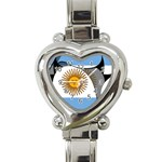 Argentina Heart Italian Charm Watch
