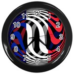 France Wall Clock (Black)