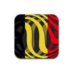 Belgium Rubber Square Coaster (4 pack)