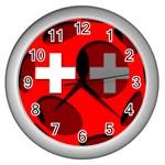 Switzerland Wall Clock (Silver)