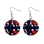 Norway 1  Button Earrings