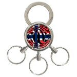 Norway 3-Ring Key Chain