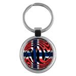 Norway Key Chain (Round)