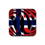 Norway Rubber Square Coaster (4 pack)