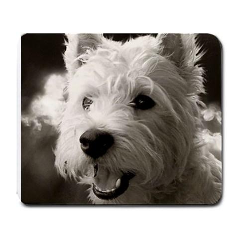 Westie Puppy Mouse Pad By Lou   Large Mousepad   Mukz6j3j7g9u   Www Artscow Com Front