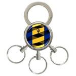 Barbados 3-Ring Key Chain