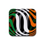 Ireland Rubber Square Coaster (4 pack)