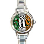 Ireland Round Italian Charm Watch