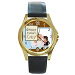 fathers day - Round Gold Metal Watch