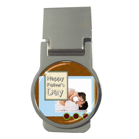 Happy Father Day By Joely   Money Clip (round)   Cm1a3n5l3ys4   Www Artscow Com Front