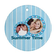 Summer Time By May   Round Ornament (two Sides)   3imzns73ek9l   Www Artscow Com Back