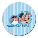 summer time - Collage Round Mousepad