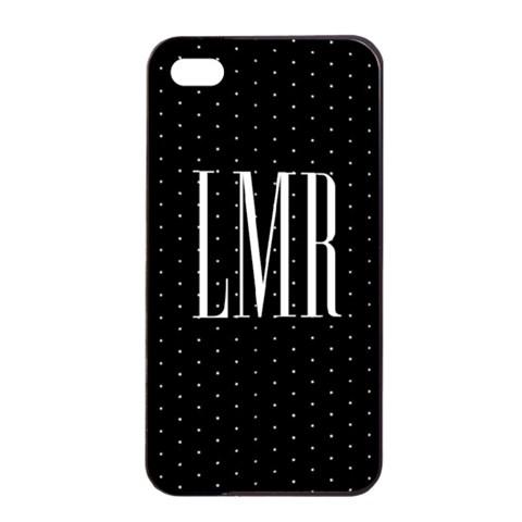 Cute Monogram Iphone 4 Case By Lmrt   Apple Iphone 4/4s Seamless Case (black)   87c45dc7id8c   Www Artscow Com Front