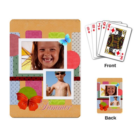 Summer Time By Joely   Playing Cards Single Design   Dqb0bzgosbpv   Www Artscow Com Back