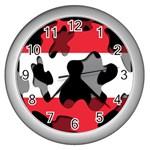 Austria Wall Clock (Silver)