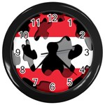 Austria Wall Clock (Black)