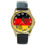 Germany Round Gold Metal Watch