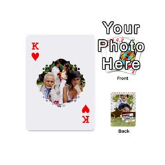 King Happy Fathers Day By Joely   Playing Cards 54 (mini)   N6aaw56exh0x   Www Artscow Com Front - HeartK