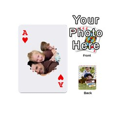 Ace Happy Fathers Day By Joely   Playing Cards 54 (mini)   N6aaw56exh0x   Www Artscow Com Front - HeartA