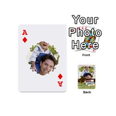 Ace Happy Fathers Day By Joely   Playing Cards 54 (mini)   N6aaw56exh0x   Www Artscow Com Front - DiamondA