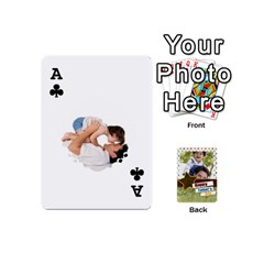 Ace Happy Fathers Day By Joely   Playing Cards 54 (mini)   N6aaw56exh0x   Www Artscow Com Front - ClubA
