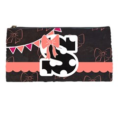 Pencil Case  Monogram Bows & Polka Dot By Lmrt   Pencil Case   Xe6m4mhrlhxl   Www Artscow Com Front