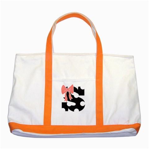 Monogram Tote Bag By Lmrt   Two Tone Tote Bag   B1s24rf9n1ei   Www Artscow Com Front