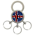 Iceland 3-Ring Key Chain