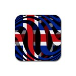 Iceland Rubber Square Coaster (4 pack)