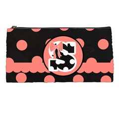 Pink Polka Dot Pencil Case by LilMissRedT Front